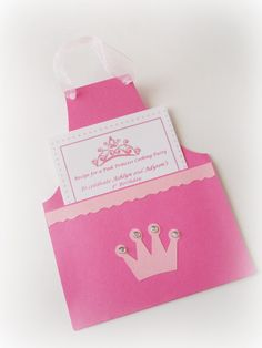 princess -cooking-party-apron-invitation(or could use it for a kids Christmas baking or cookie decorating party using Christmas colors)