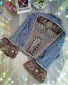Plus Size Fashion for Women Over 40 - Fashion Trends Estilo Fashion, Denim Fashion, Boho Fashion, Fashion Outfits, Womens Fashion, Fashion Trends, Jean Vintage, Vintage Jacket, Denim And Lace