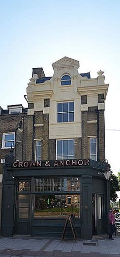The Crown and Anchor frontage