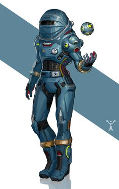 ArtStation - Blue Space Suit Design, Fred Augis