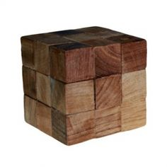 Chain Cube Puzzle wooden mind bender puzzles - 27 cubes. These Mind Bender Puzzles are very tricky, you have to work out which order to pull the various pieces apart in. Hand made to a high standard and supplied individually boxed.