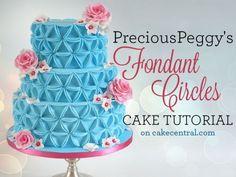 PreciousPeggy's Fondant Circles Cake Tutorial Tutorial on Cake Central