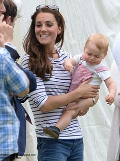 Prince George Attends His First Polo Match 6-15-14; just like any little kid Prince George wasn't happy all day