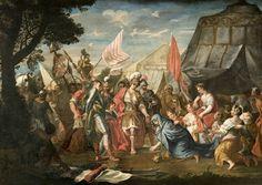 La famiglia di Dario davanti ad Alessandro Magno by Claudio Francesco Beaumont