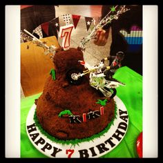 Dirt bike cake - perfect for a boys birthday party