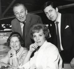 Walt and Lilly Disney with Julie Andrews. About 1964-65