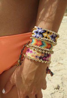 Swarovski Friendship Bracelet  one of a kind by colordrop on Etsy, $49.99