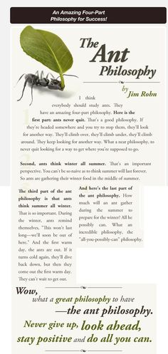 Ant Philosophy- Jim Rohn