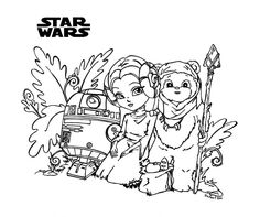 Star Wars by JadeDragonne on deviantART Blank Coloring Pages, Disney Coloring Pages, Coloring Sheets, Coloring Books, Star Wars Weihnachten, Star Wars Coloring Book, Disney Star Wars, Digi Stamps, Star Wars Art