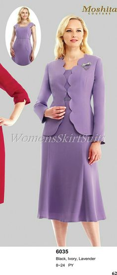 Statistics On Women S Fashion Refferal: 5085238030 Women Church Suits, Suits For Women, Clothes For Women, Knit Fashion, Work Fashion, Dress Outfits, Fashion Dresses, Womens Dress Suits, Long Skirts For Women