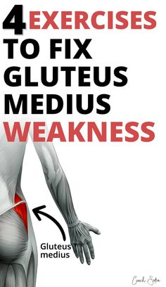 The gluteus medius muscle plays an important role in stabilizing your hips. If your exercise routine is lacking in frontal plane exercises (side to side), the gluteus medius can weaken and cause many hip dysfunctions Hip Strengthening Exercises, Hip Flexor Exercises, Back Pain Exercises, Hip Stretching Exercises, Stretches, Hip Replacement Exercises, Dumbbell Exercises, Training Exercises, Workout Exercises
