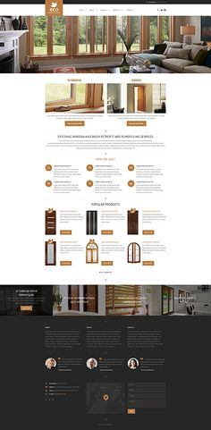 Windows & Doors Installation Company #website #template. #themes #business #responsive