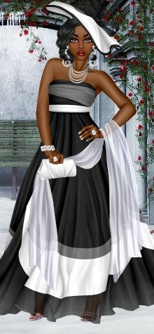 Sherisboyz has put together an elegant #blackandwhite outfit for her diva…