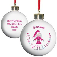 Personalised Christmas Bauble - Grandma  from Personalised Gifts Shop - ONLY £9.99
