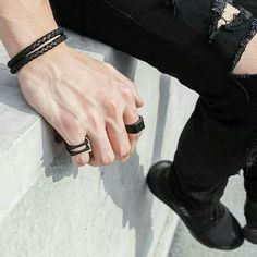aesthetic Alex had been wearing rings for years. He didn't know why. He wore his wed. Alex had been wearing rings for years. He didn't know why. He wore his wedding ring on his index finger because that's where it was most comfortable. Hand Veins, Jace Lightwood, How To Wear Rings, Daddy Aesthetic, By Any Means Necessary, Hand Reference, Men With Street Style, Male Hands, Braided Leather
