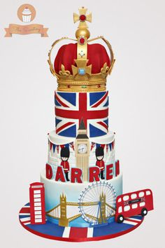 London themed cake b