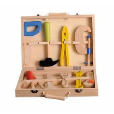 Caja de herramientas de madera de Egmont Toys
