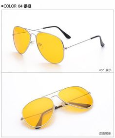 9533f8d9db CCSPACE Aviator Yellow Lens Eye Glasses Frames Metal Night With Driving  Glasses Men Women 2017 Fashion Eyewear Driver 4 Colors