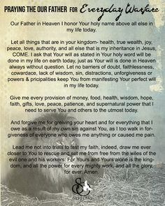 Praying the Our Father for Everyday Warfare