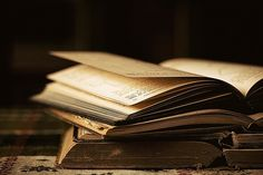 old books, brown colors