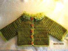 Saquito en crochet para niño.
