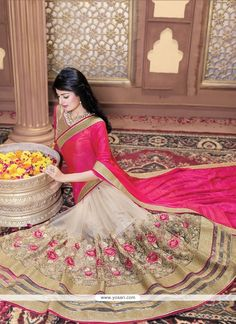 Outstanding Patch Border Work Beige Classic Saree Model: YOSAR7383                                                                                                                                                                                 More