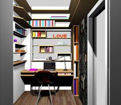 escritório em apartamento em Santa Tereza - projeto Margareth Salles