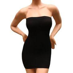 Robe-bandeau-gaine-sculptante-galbante-amincissante-couleur-noir-TAILLE-36-a-40