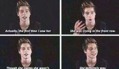 #Imagine Luke talking about the first time he saw you