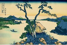 apanese Ukiyo-e Woodblock print Katsushika Hokusai...