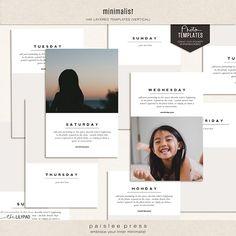Minimalist Photo Templates by paislee press (4x6 Vertical Orientation)