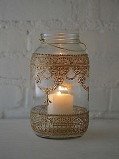 Free People 64 oz. Mason Jar Lantern at Free People Clothing Boutique