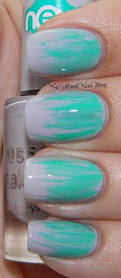 Brush Strokes Mani with Essence Dress For A Moment and Orly Gumdrop!