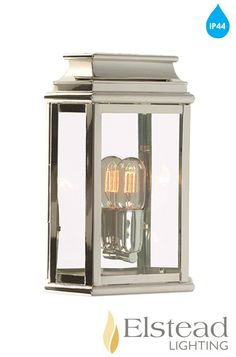 Buy Martins brass wall lantern - polished nickel, Outdoor Wall Lights - Rectangular Victorian style outdoor wall light in Nickel Outdoor Wall Lantern, Outdoor Walls, Outdoor Wall Lighting, Exterior Lighting, House Front, Front Porch, Architectural Elements, Exterior Doors, Polished Nickel