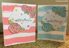 Mothers Day Card, Happy Mothers Day Card, Handmade Greeting Card, Floral Card, Right at Home Stamps, Newtons Nook Designs, Pretty Pink Posh by CardsAndClips on Etsy