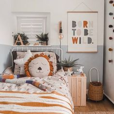 Looking for beautiful ideas for childrens / kids scandi decor this amazing room encompasses some of the best kids bedroom accessories available from s Boy Toddler Bedroom, Toddler Rooms, Baby Boy Rooms, Girls Bedroom, Bedroom Decor, Childrens Bedrooms Boys, Nursery Decor, Nursery Prints, Boys Jungle Bedroom