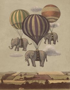 Who doesn't love some elephant-toting hot air balloons?