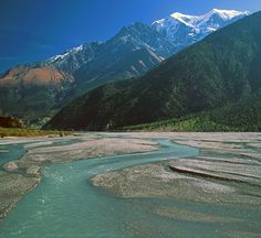 Kali Gandaki River Along the Annapurna Circuit Trek in Nepal