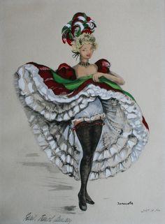Vintage Artist Janicotte Can Can Dancer Nylons, Cabaret, Moulin Rouge Dancers, Afrique Art, Saloon Girls, Vintage Burlesque, Retro Lingerie, Circus Theme, Alice