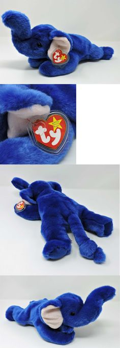 45405839757 Beanie Buddies 19206  Ty Beanie Buddy Royal Blue Peanut Elephant 14 Soft Toy  Mwmt -