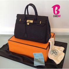 Hermes Croc Birkin Bag Cake
