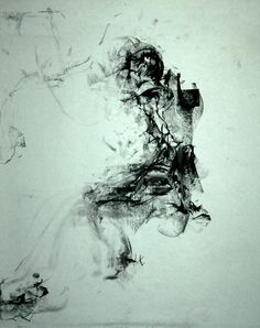 JOHN LIGDA ORIGINAL ART - Nude Gesture Abstract