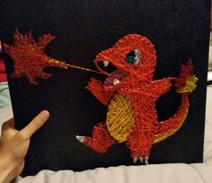 Charmander String Art, Pokemon DIY