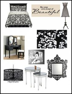 modern chic bedroom black and red | Decorating a Room for Teen Girls :: Black and White Bedding
