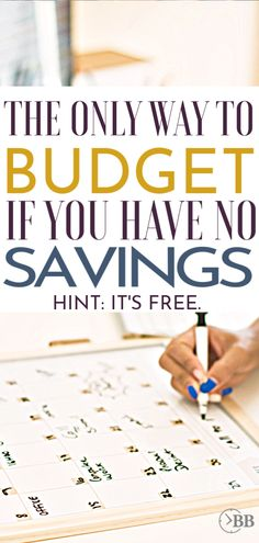 This really is the only way to budget if you have no savings. We started using it when we were looking for how to budget when you live paycheck to paycheck and were trying to find free budgeting apps that teach you how to budget for beginners. Budgeting Finances, Budgeting Tips, Ways To Save Money, Money Saving Tips, Money Tips, Saving Ideas, Budget App, Budget Tracking, Budgeting