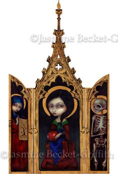 Eve Triptych Gothic Renaissance Triptych by Jasmine Becket-Griffith - Lowbrow Art