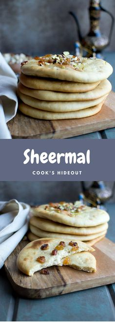 Sheermal is an rich aromatic flatbread flavored with saffron and ground cardamom. It tastes excellent just as is but with a smear of jam or Nutella, it is amazing.