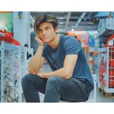 Designer Clothes, Shoes & Bags for Women Dylan Jordan, Selfie Poses, Perfect Boy, Undercut Hairstyles, Look Alike, Face Claims, Cute Guys, Bad Boys, Character Inspiration