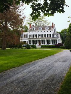 long gravel driveway, big front lawn, white colonial home. - Looking for affordable hair extensions to refresh your hair look instantly? http://www.hairextensionsale.com/?source=autopin-pdnew