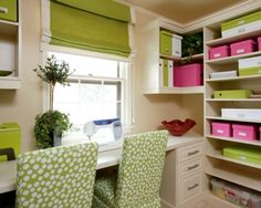 Well organized sewing room